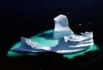 Aisberg topit, Unartoq, Groelanda
